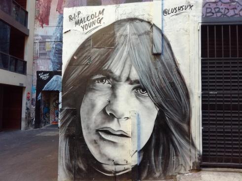 Malcom Young du groupe AC/DC